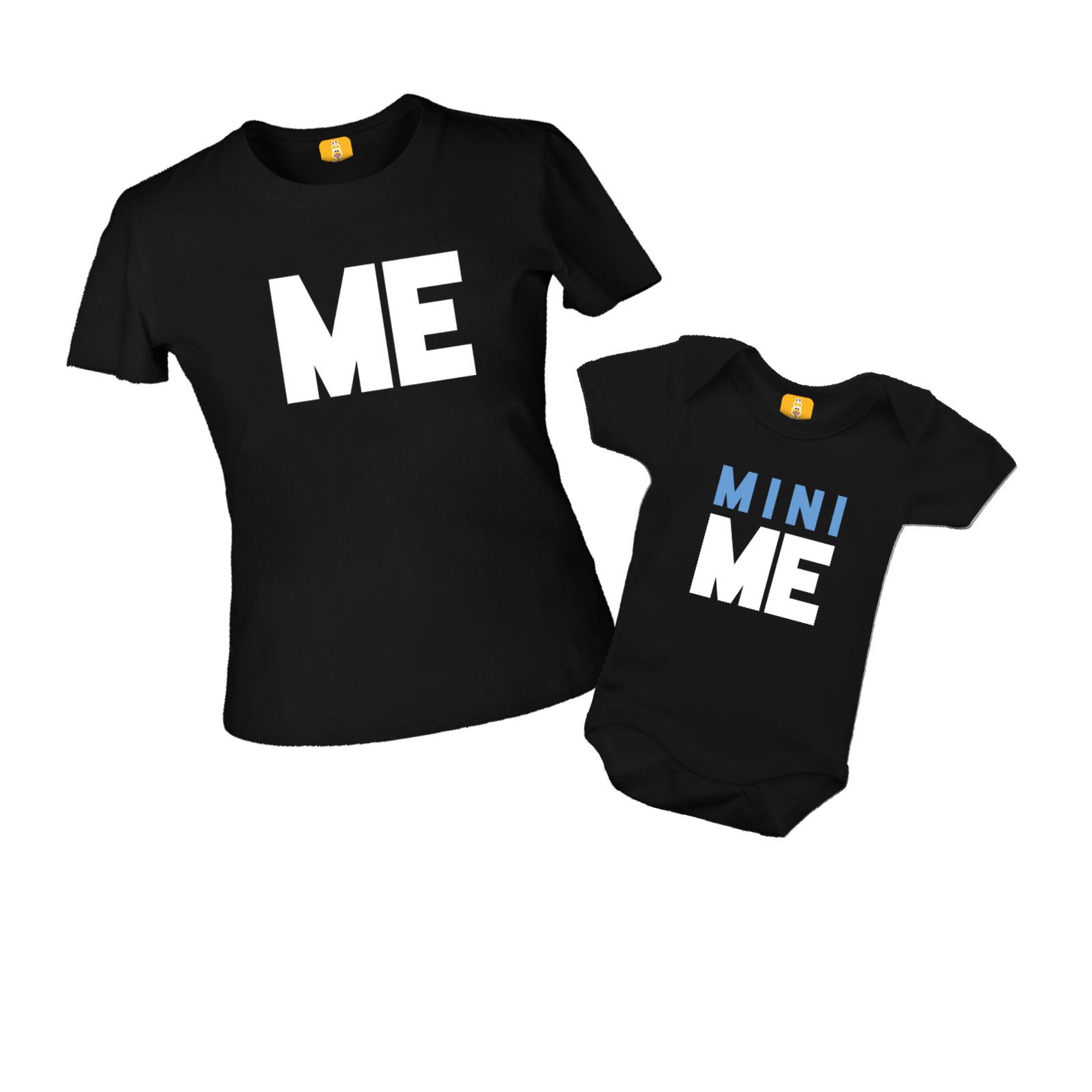 Kit Camiseta e Body - Tal Mãe Tal Filha - Me e Mini Me