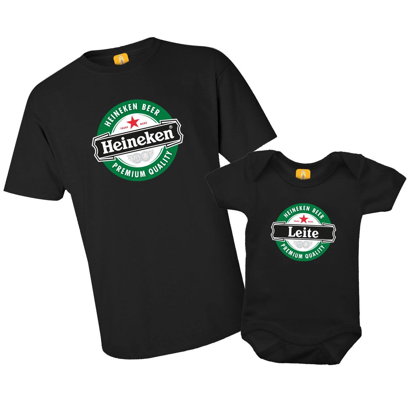 Kit Camiseta e Body - Tal Pai Tal Filho (a) - Heineken