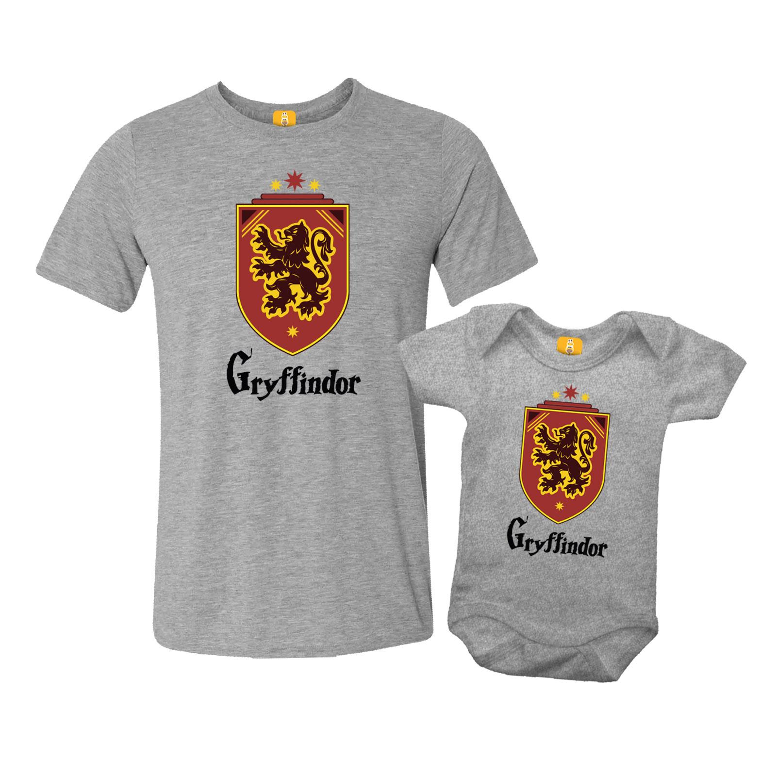 Kit Camiseta e Body - Tal Pai Tal Filho - Gryffindor Harry Potter