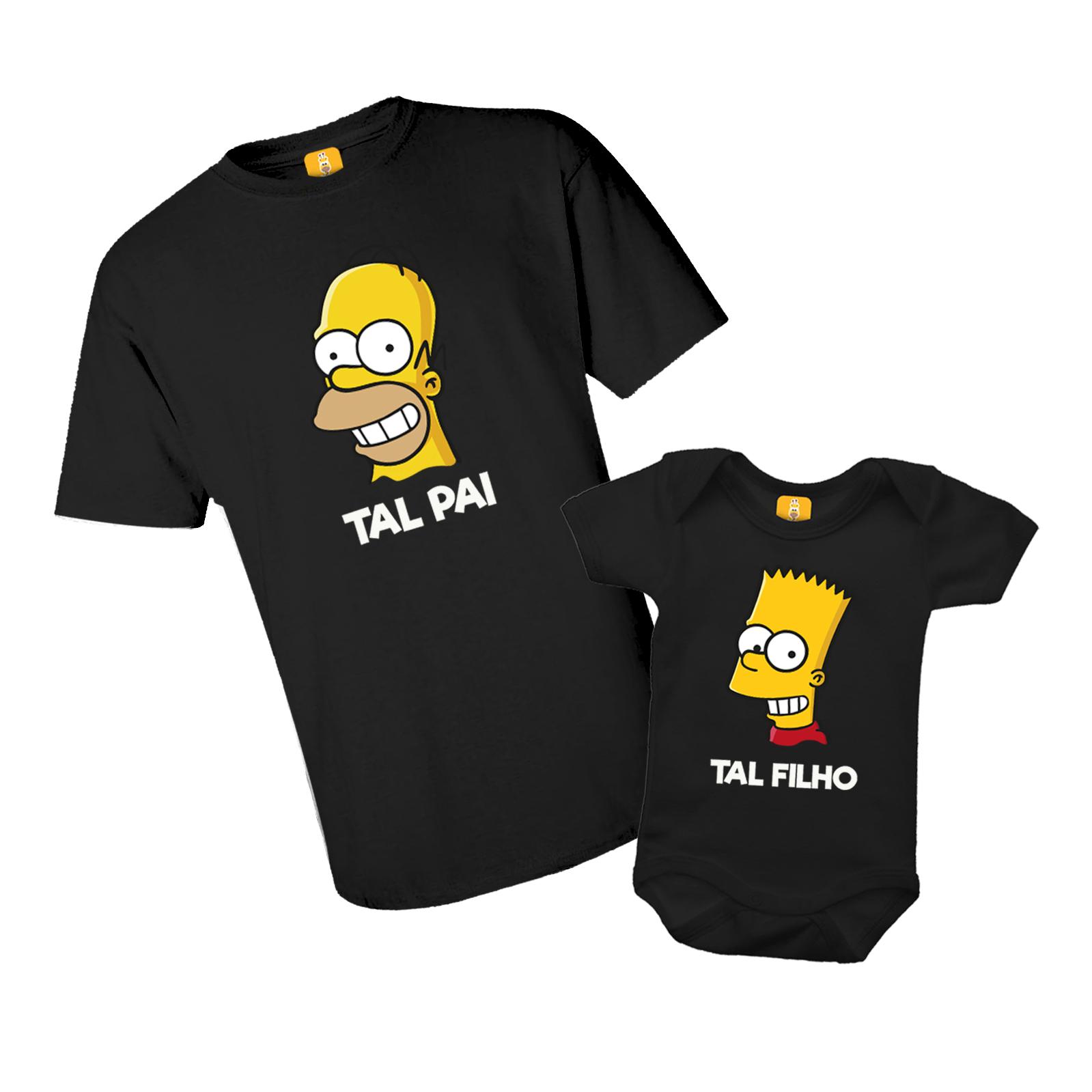 Kit Camiseta e Body - Tal Pai Tal Filho - Simpsons Bart