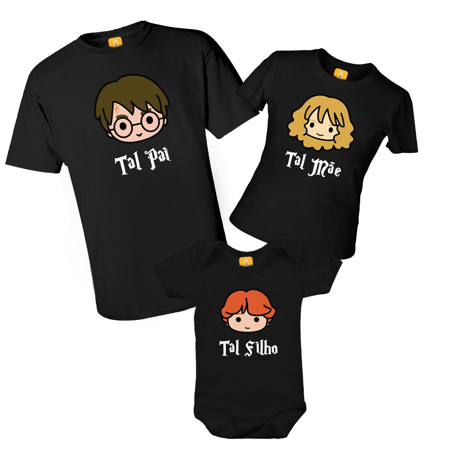 Kit camiseta Família do Harry Potter
