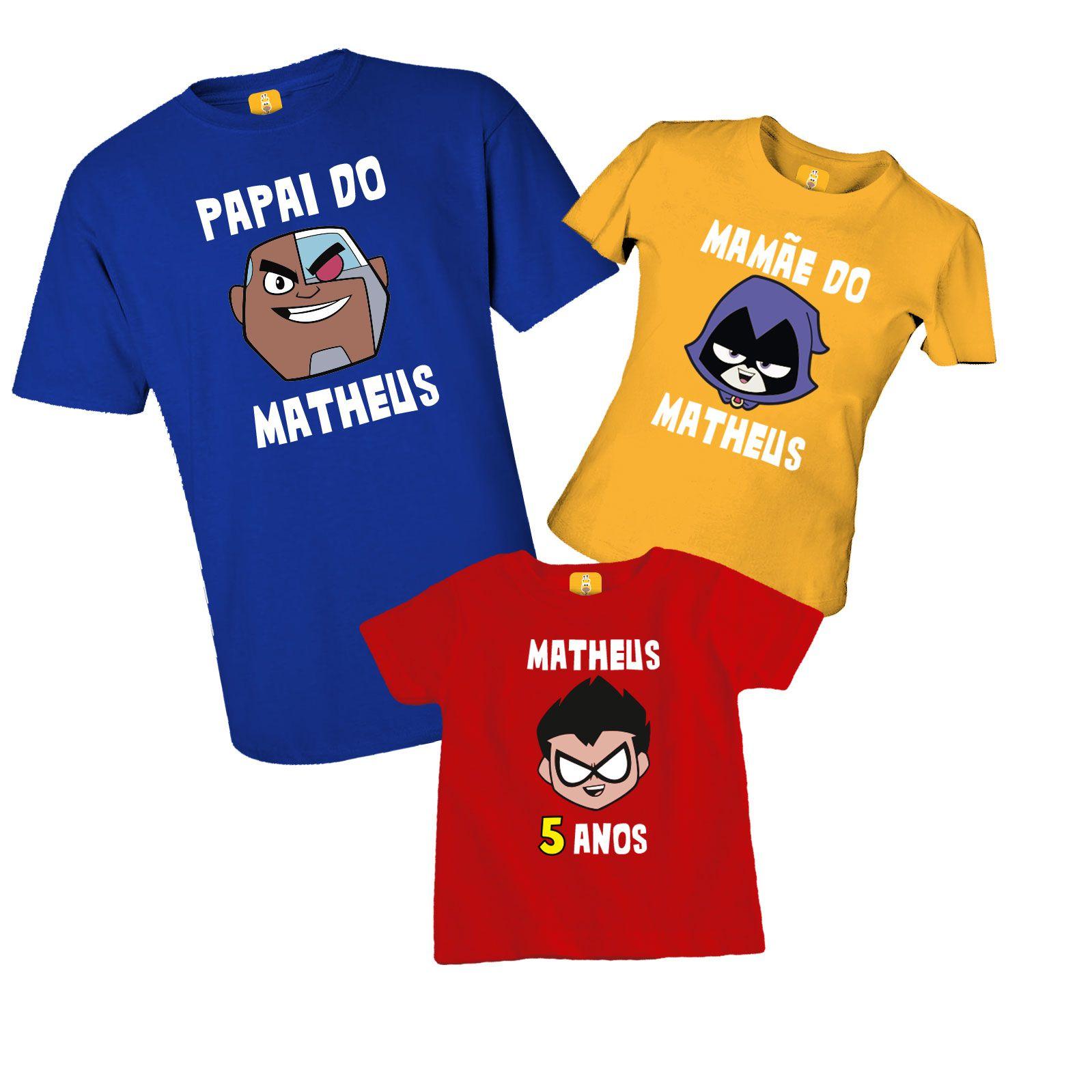 Kit camiseta para aniversário - Jovem Titãs