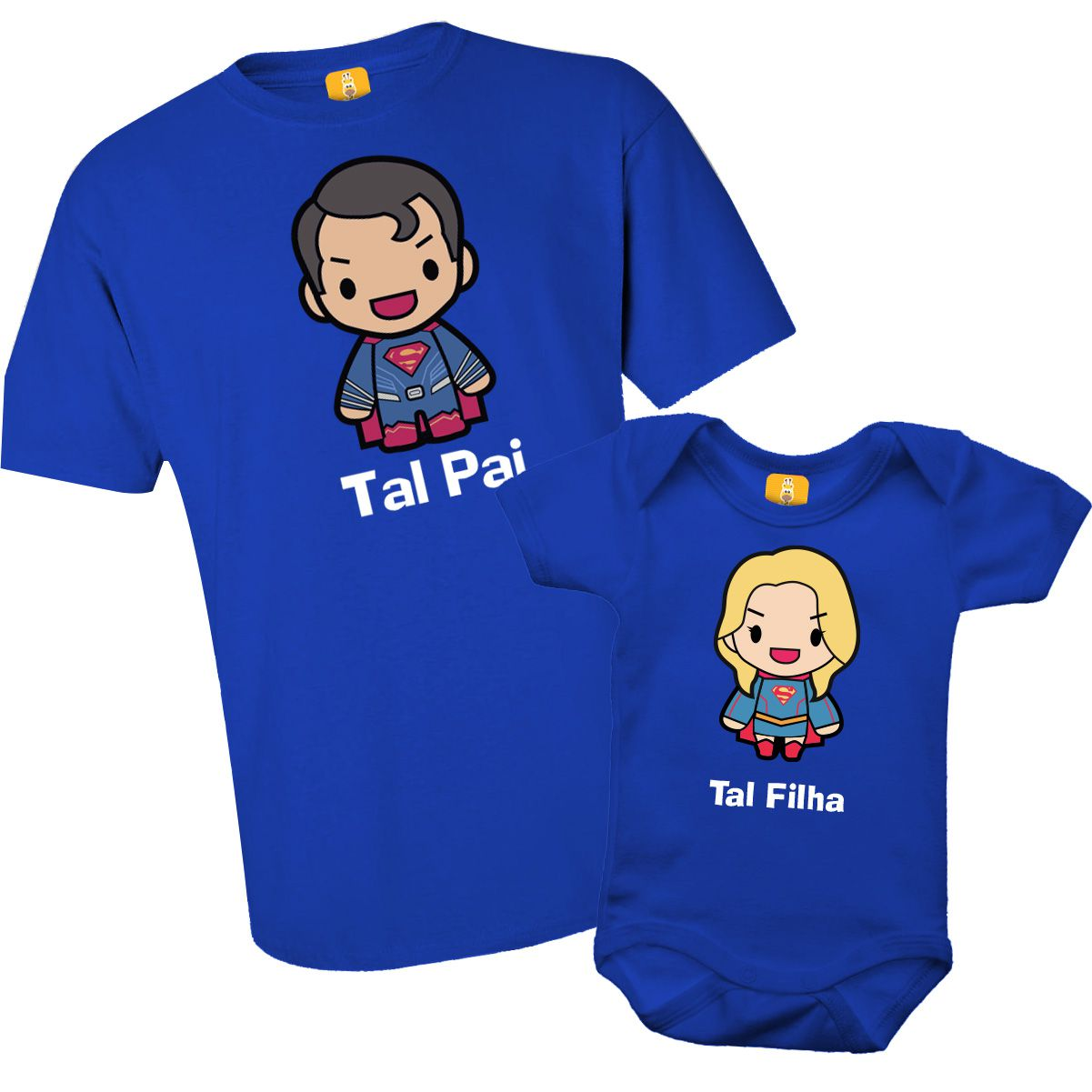 Kit camiseta - Tal pai, Tal filha Superman