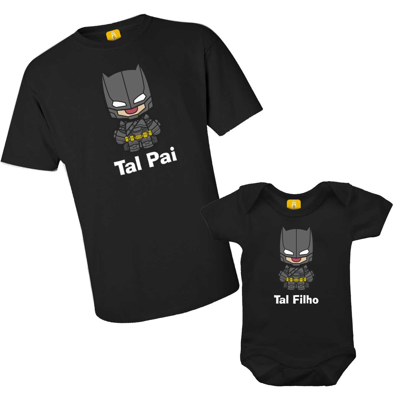 Kit camiseta - Tal pai, Tal filho do Batman