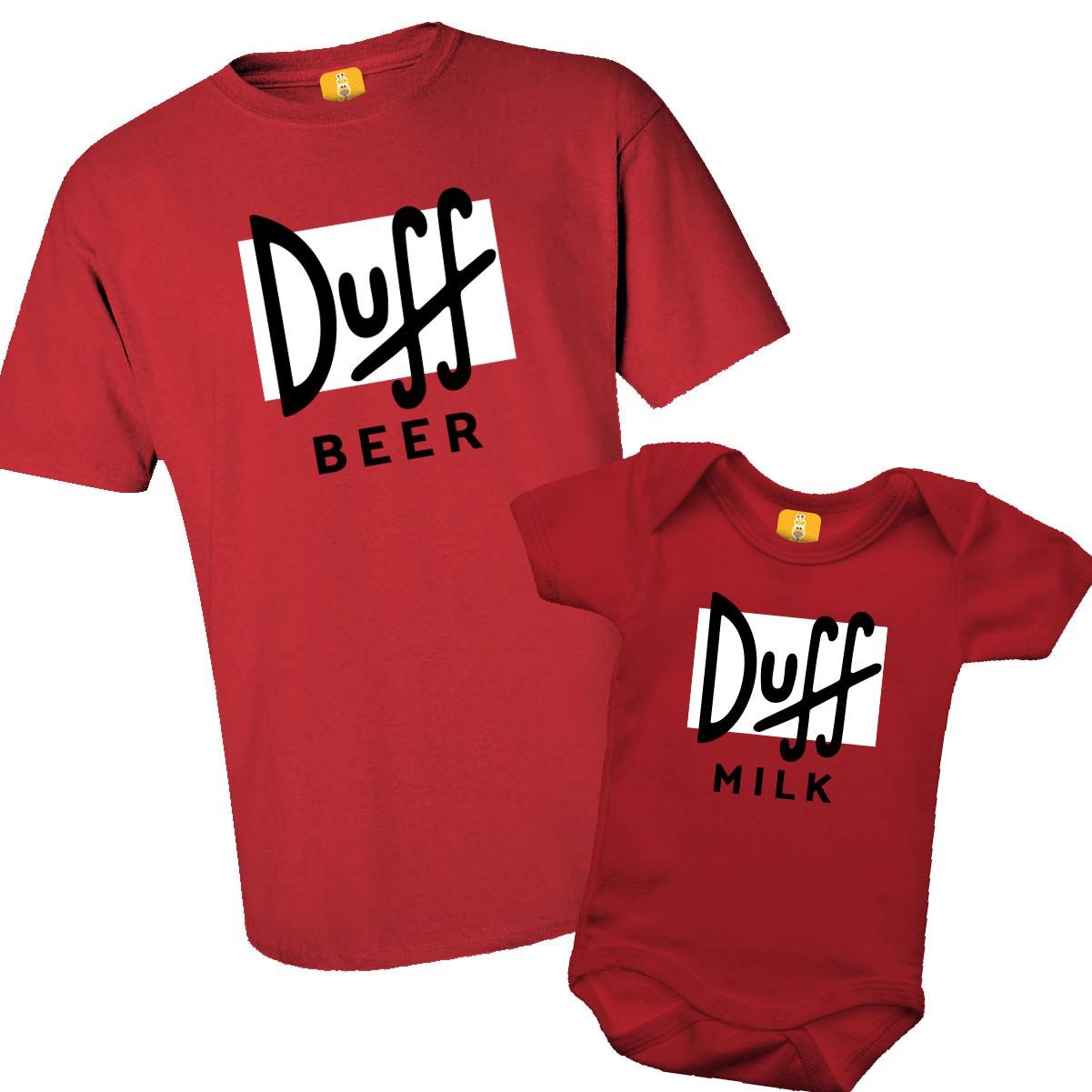 Kit camiseta Tal pai Tal filho Duff beer