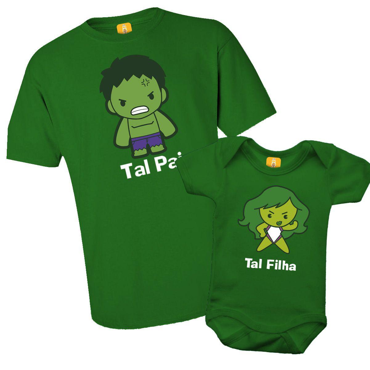 Kit camiseta - Tal pai, Tal filho Hulk