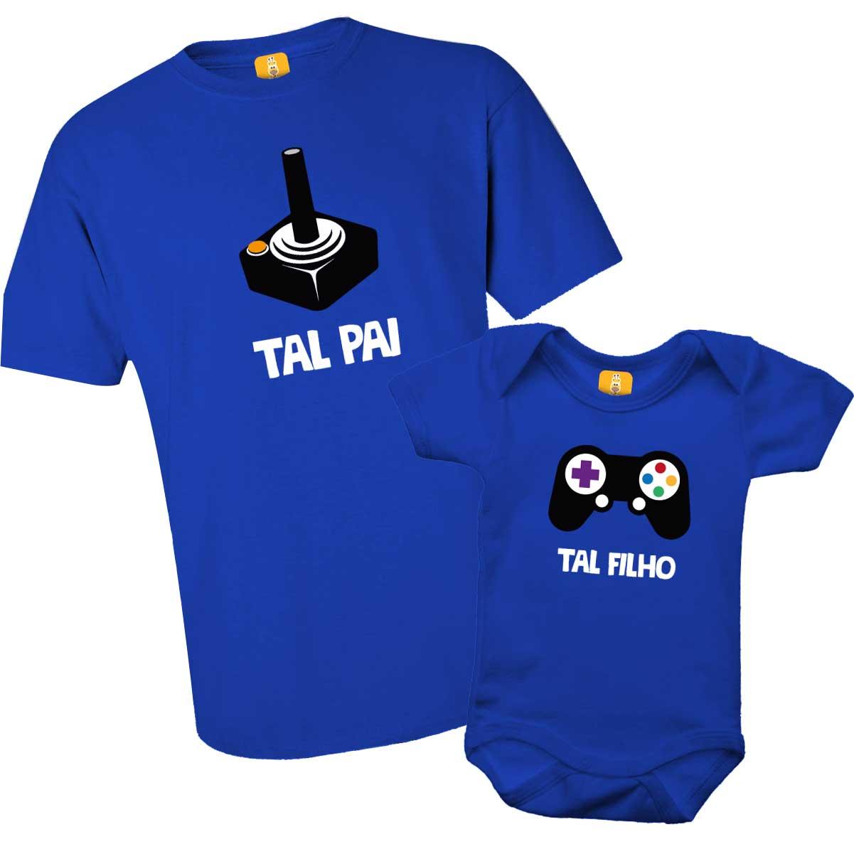 Kit camiseta Tal pai Tal filho Joystick