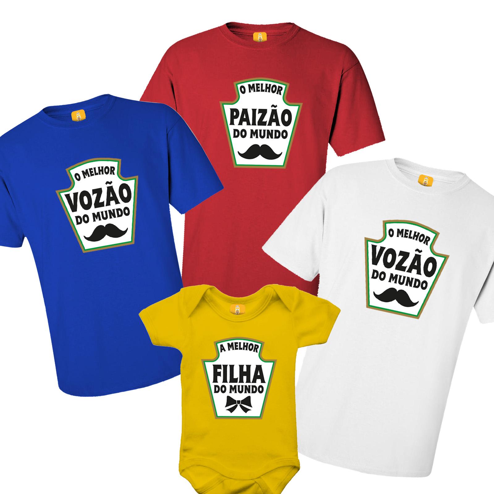 Kit De Camiseta Avô Pai Filho (a) - Heinz - Ketchup, Mostarda e Maionese - 4 Peças