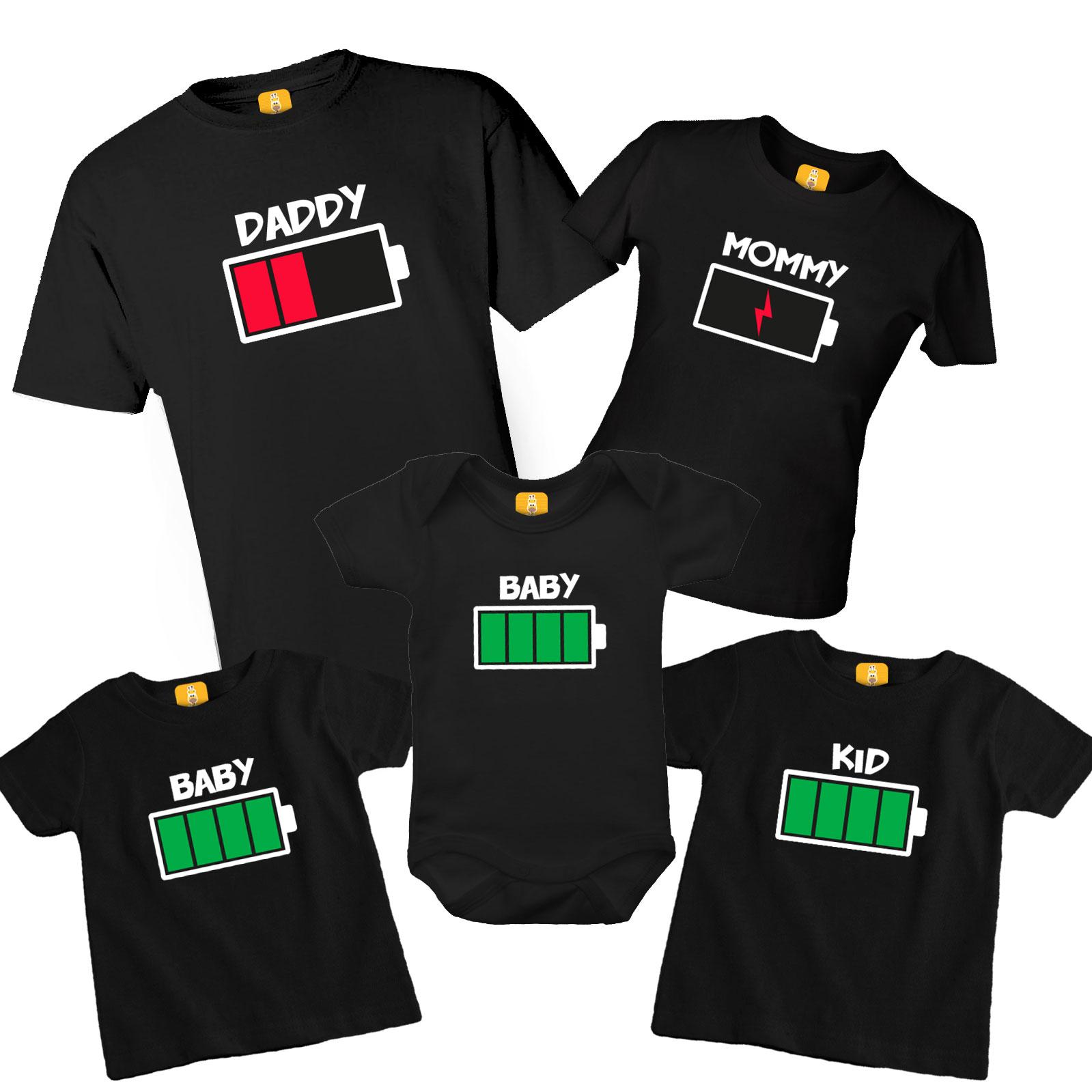 Kit de camiseta Bateria fraca com 5 Peças