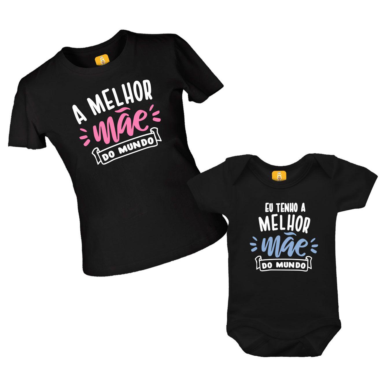 Kit de camiseta e body  A melhor Mãe do mundo