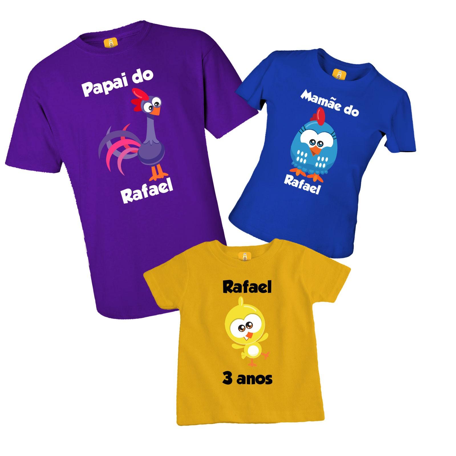 Kit de camisetas aniversário Galinha pintadinha mini galo carijo pintinho amarelinho