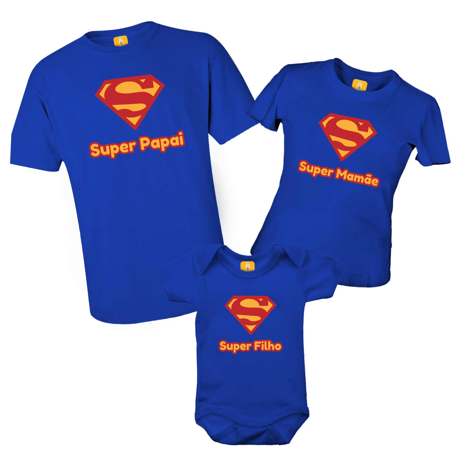 Kit de camisetas do Superman