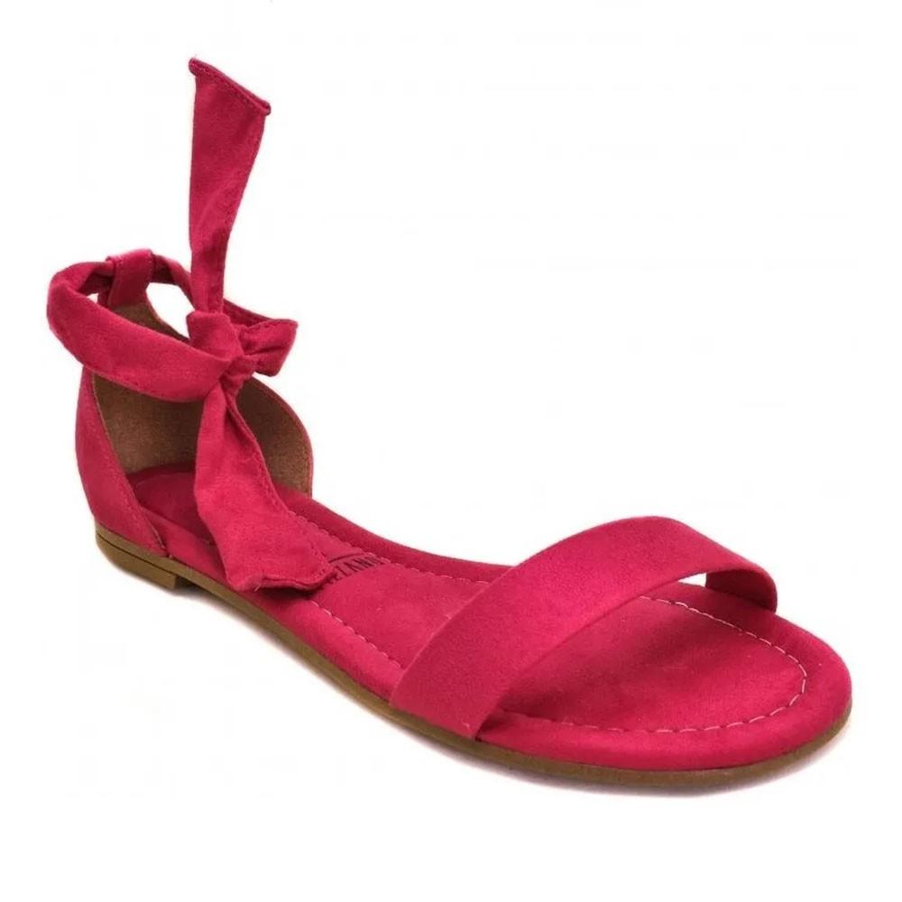 Sandália Rasteira Camurça Pink - Vizzano