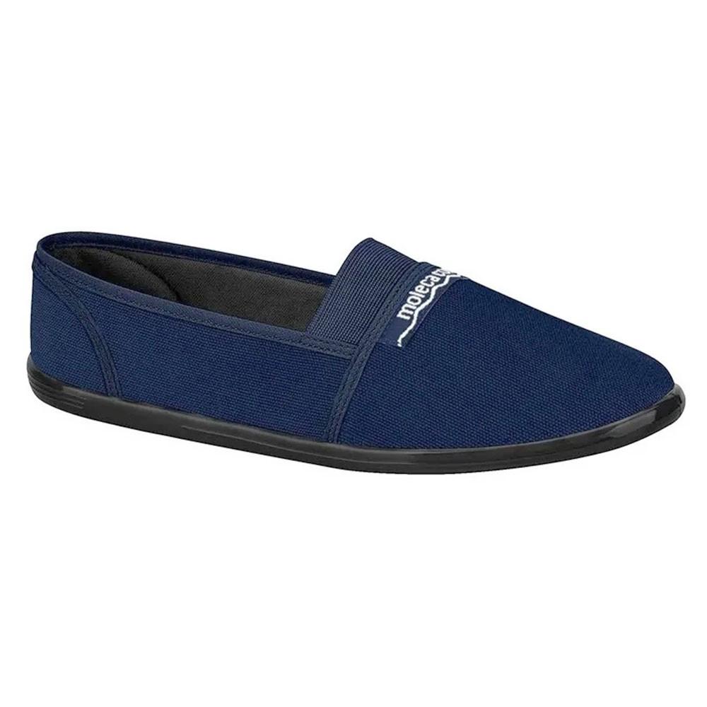 Sapatilha Lona Azul Marinho - Moleca