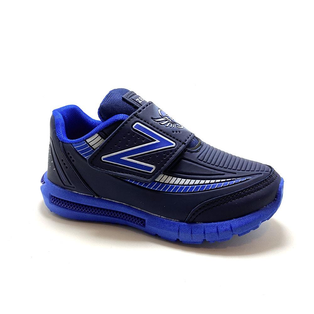 Tênis Infantil Velcro Azul - Zeus
