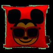 Almofada Mickey emoji feliz e triste