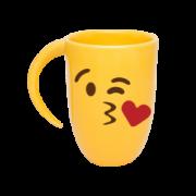 Caneca Amarela Emoji Beijo