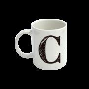 CANECA LETRA C 300ML
