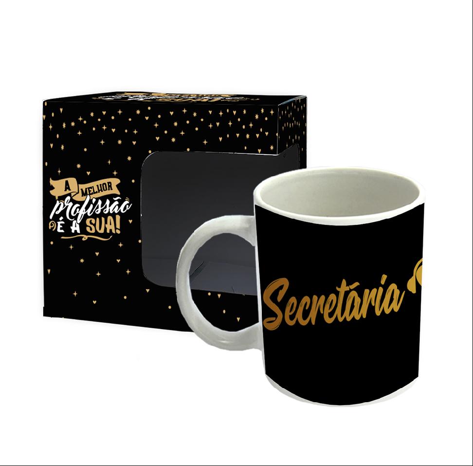 Caneca - Profissões Gold - Secretaria