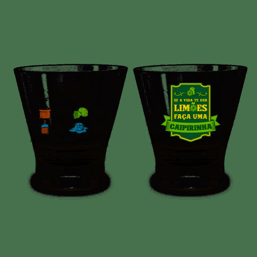 Conjunto Caipirinha Copo + Socador e Receita