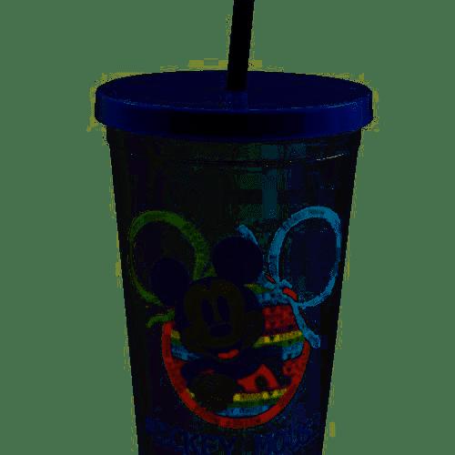 Copo Canudo Textura Mickey 90 Anos 650ml