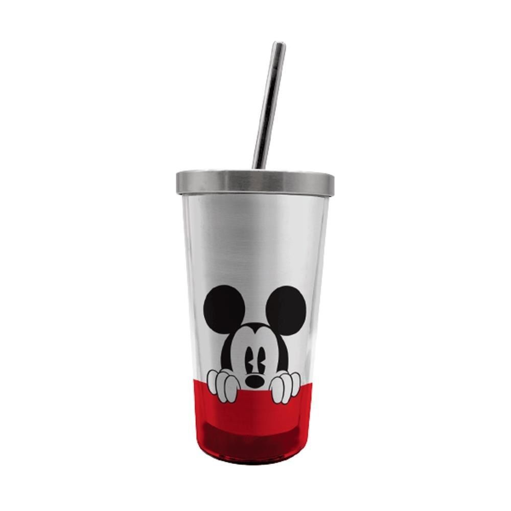 COPO COM CANUDO 450ml MICKEY