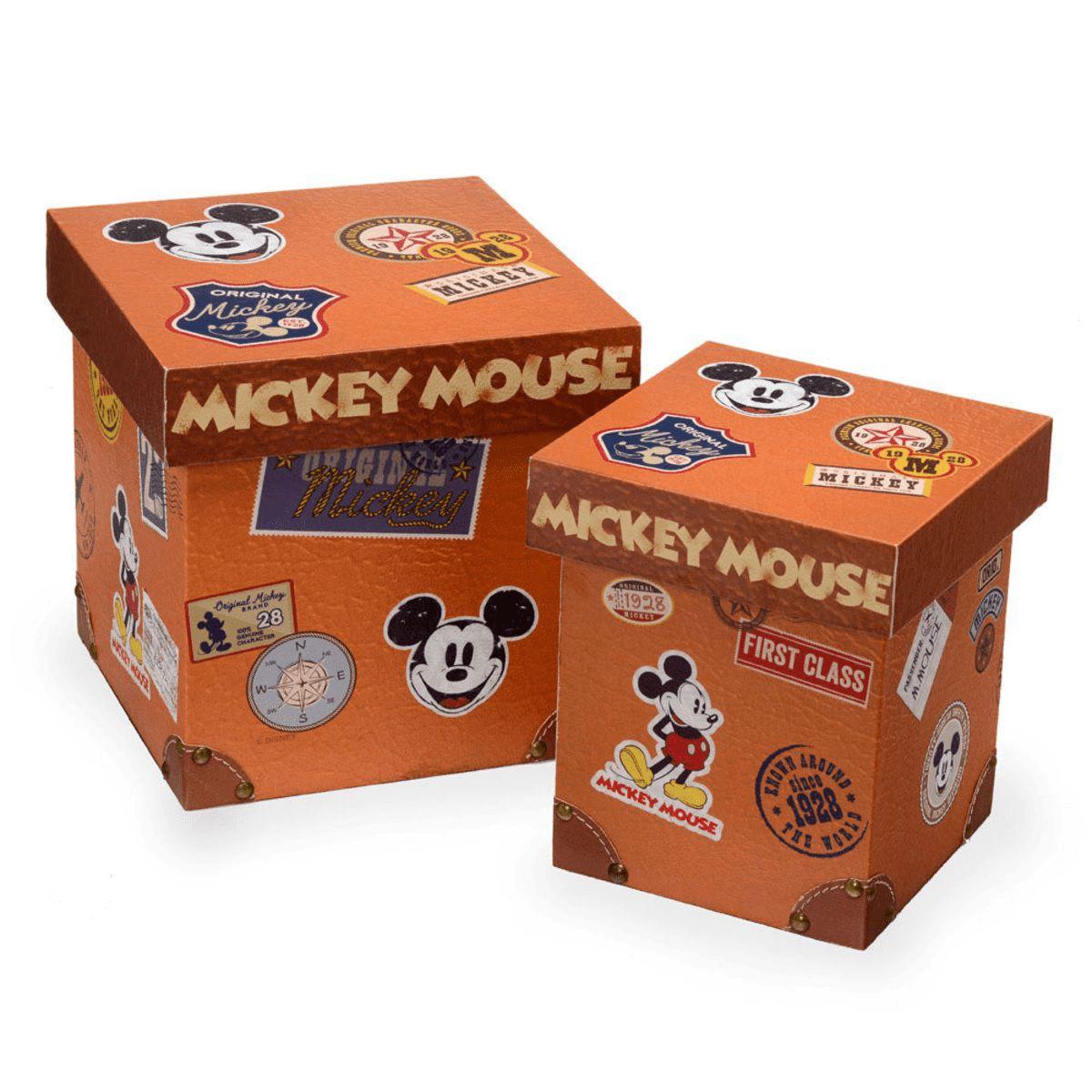 Jogo 2 Caixas Mickey Stamps