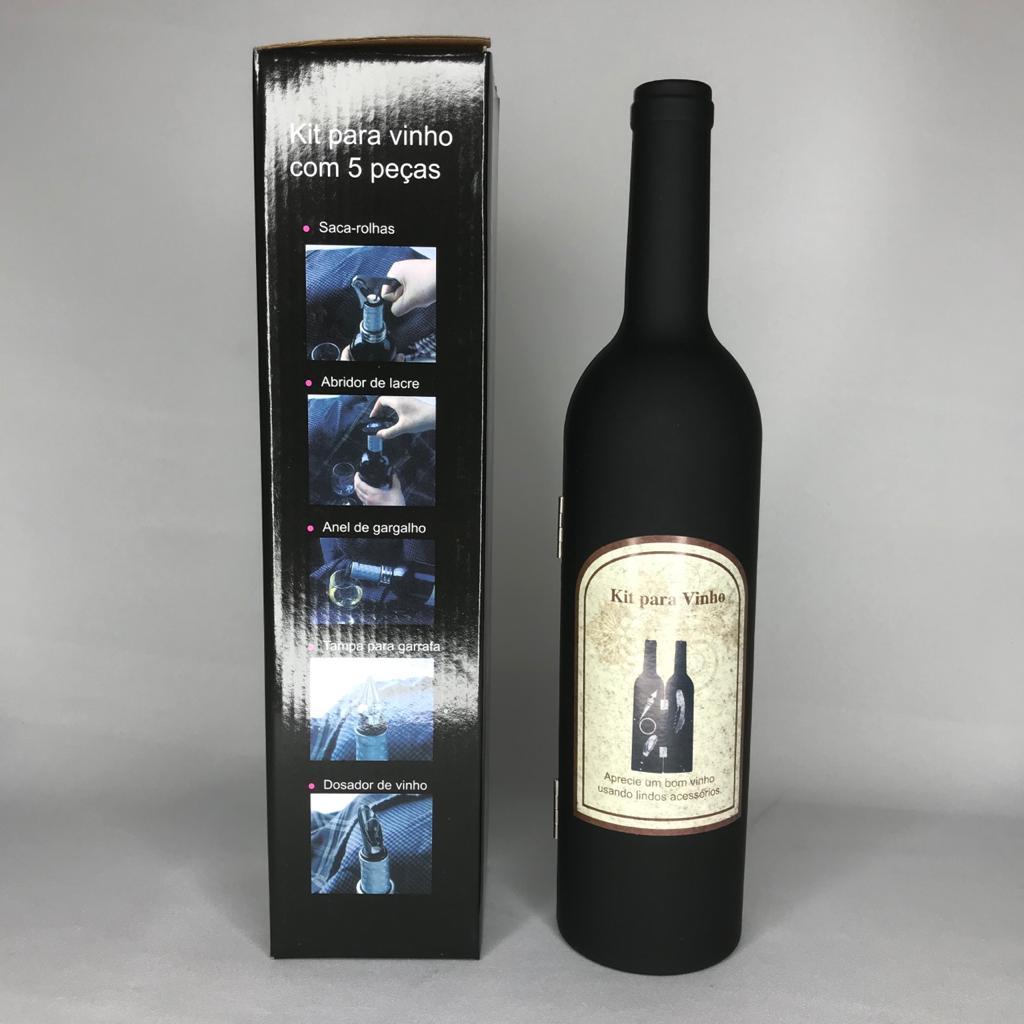 Kit Acessórios Para Vinho - 5 Peças