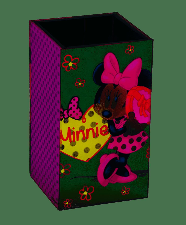 Porta Escovas Espelhado Minnie Pink Disney