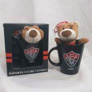 Caneca Preta com Urso - Cerâmica