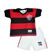 Kit Infantil Retrô Mania Vitória 1972 - Vermelho e Preto