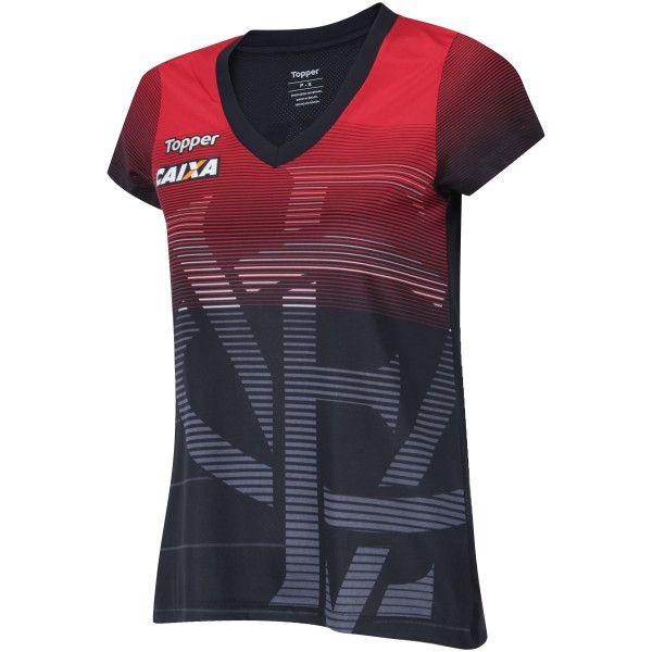 Camisa Aquecimento - Feminino - Topper - 2018 - Vermelho