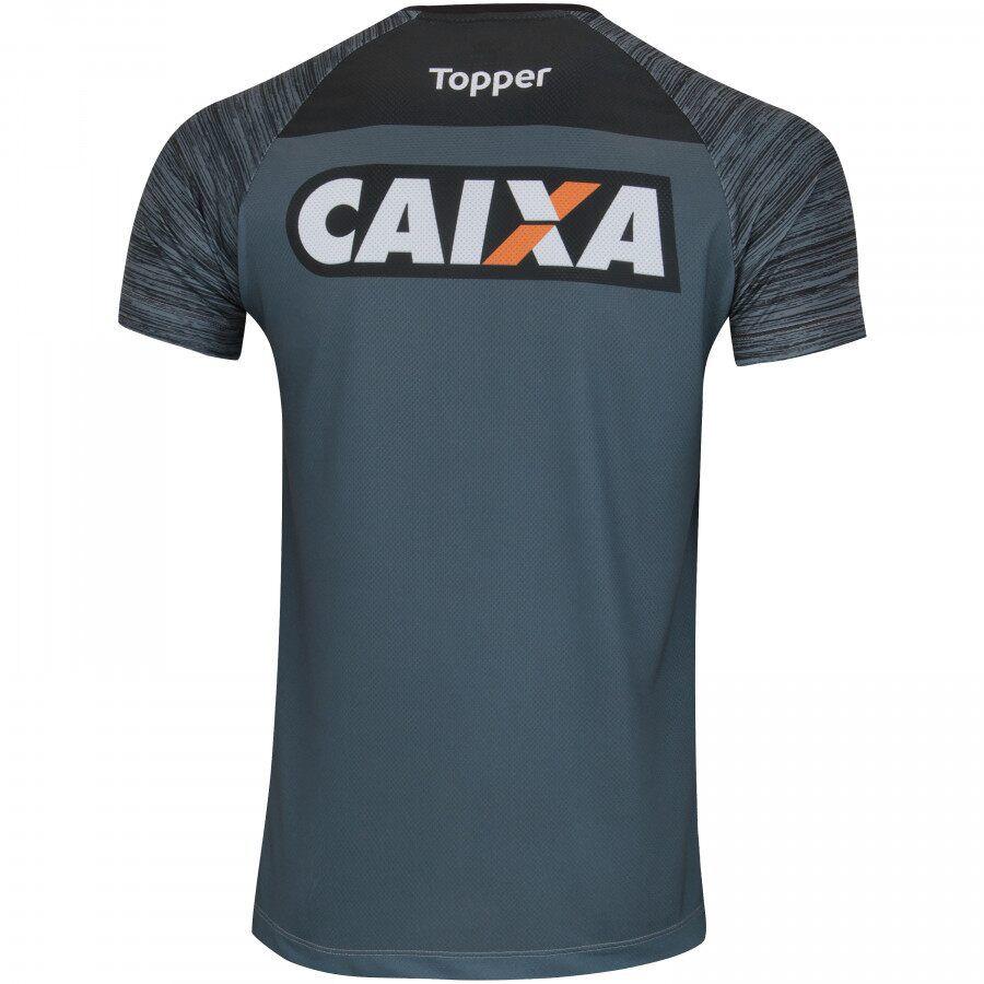 Camisa Treino Comissão - Topper - 2018 - Masculina - Chumbo