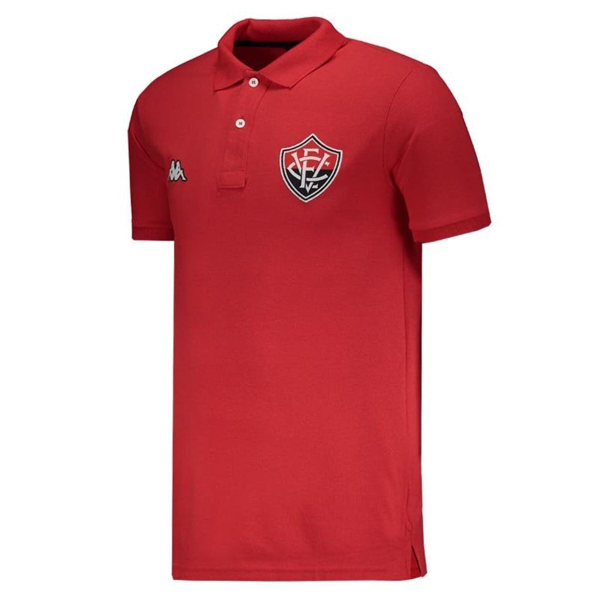 Camisa Polo Viagem Atleta - Kappa - 2019 - Masculina - Vermelho