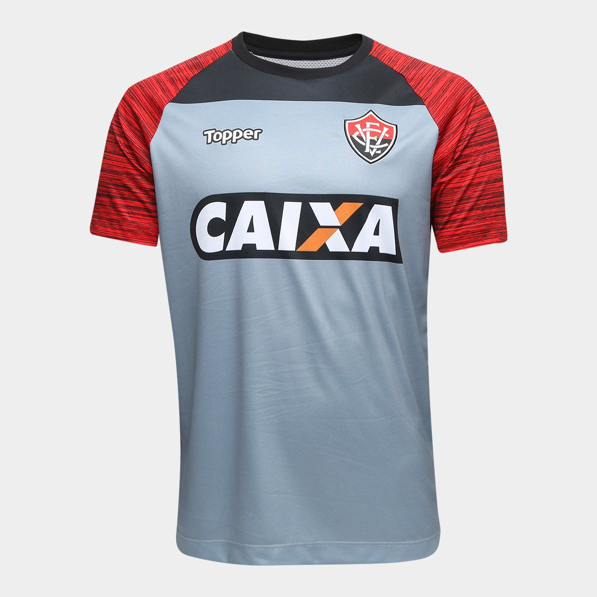 Camisa Treino Atleta Topper - 2018 - Masculina - Cinza