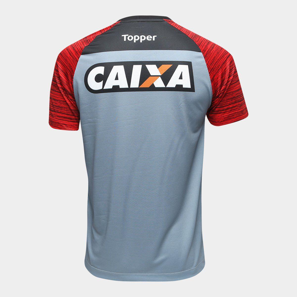 Camisa Treino Atleta Topper - 2018 - Cinza