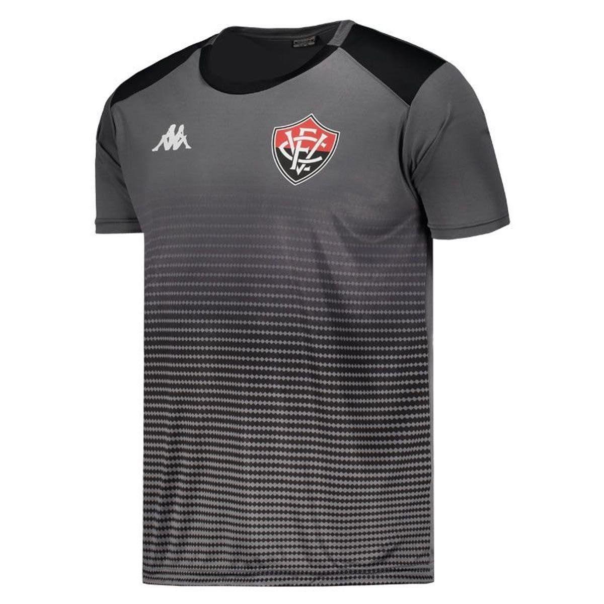 Camisa Vitória Concentração Comissão - Kappa - 2019 - Masculina - Cinza