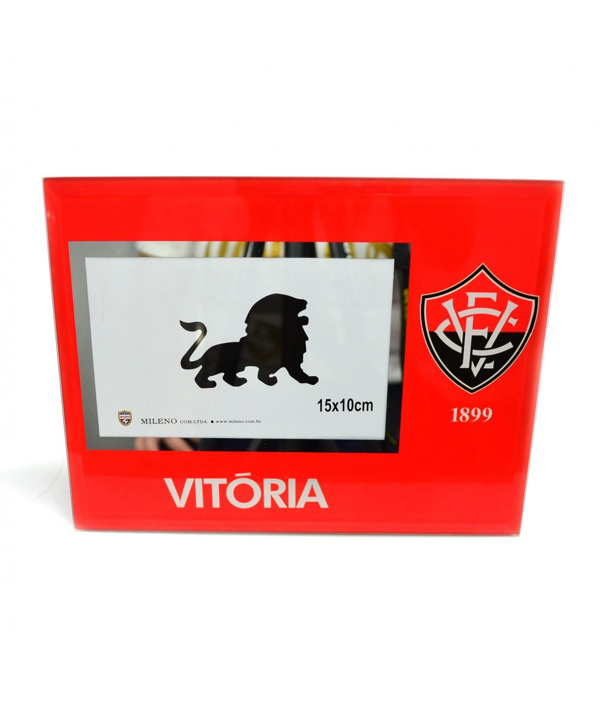 Porta Retrato de Vidro - Vitória - Vermelho