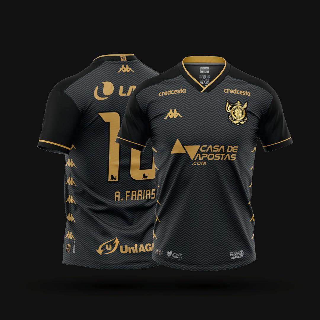 (PRÉ-VENDA) Camisa Jogo III - Kappa - 2020 - Masculina -  Chumbo