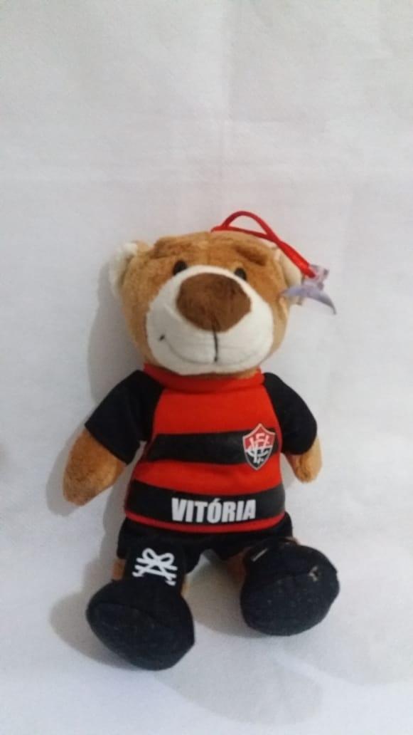 Urso Jogador - Vermelho e Preto