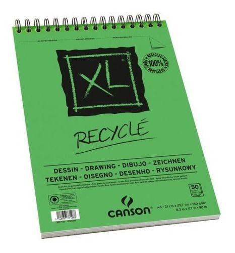 Bloco Papel Desenho Xl Recyclé A3 160g Canson C/ 50 Folhas