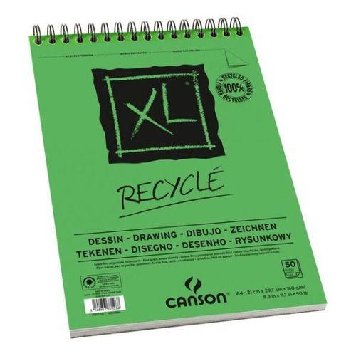 Bloco Papel Desenho Xl Recyclé A4 160g Canson C/ 50 Folhas