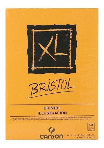Bloco De Papel Xl Bristol A4 180g Canson C/ 50 Folhas