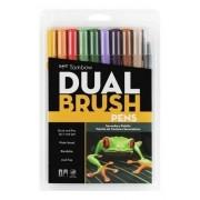 Caneta Pincel Dual Brush Tombow C/ 10 Cores Secundárias
