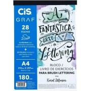 Bloco Livro De Exercícios Para Lettering 28fls 180g A4 Cis