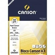 Bloco Papel Canson Desenho 200g A3 bloco c/20fls
