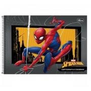 Caderno de Desenho e Cartografia Spider-Man Capa Dura 80fls 275mmx200mm Tilibra