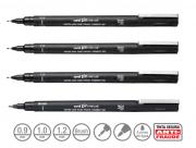 Caneta Nanquim Uni Pin Uni-ball Kit C/4 (09, 10, 12 E Brush)
