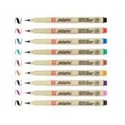 Caneta Pincel Brush Pen Pigma Sakura Kit C/ 9 Cores