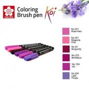 Caneta Pincel Koi Coloring Brush Sakura C/6 Lovely Lavender